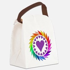rainbow_hearts01.png Canvas Lunch Bag