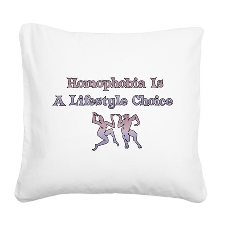 homophobia01.png Square Canvas Pillow