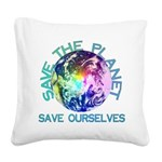 earthday_01a.png Square Canvas Pillow