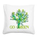 earth_day_skull02.png Square Canvas Pillow
