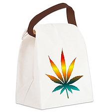 Rainbow Marijuana Leaf Canvas Lunch Bag