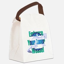 innerweasel01.png Canvas Lunch Bag