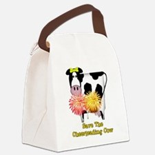 cheerleadingcow01a.png Canvas Lunch Bag