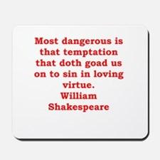 william shakespeare Mousepad