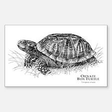 Ornate Box Turtle Rectangle Decal