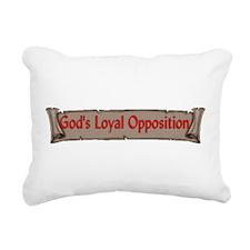 opposition01.png Rectangular Canvas Pillow