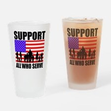 Support All Drinking Glass