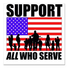 """Support All Square Car Magnet 3"""" x 3"""""""