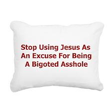 bigoted_asshole01.png Rectangular Canvas Pillow