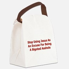 bigoted_asshole01.png Canvas Lunch Bag