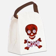love_skull01.png Canvas Lunch Bag