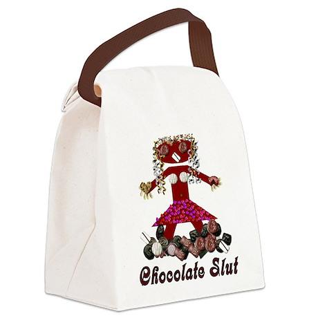 chocolateslut01.pn... Canvas Lunch Bag