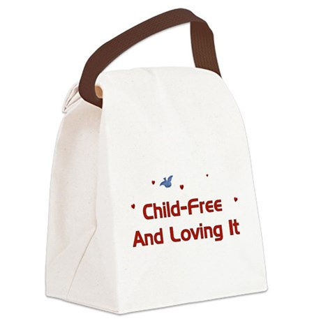 childfree01a.png Canvas Lunch Bag