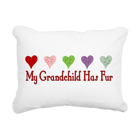 dogfur01a.png Rectangular Canvas Pillow
