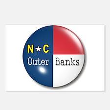 Outer Banks North Carolina Flag Postcards (Package