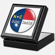 Outer Banks North Carolina Flag Keepsake Box