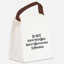 donotadujst01b.png Canvas Lunch Bag
