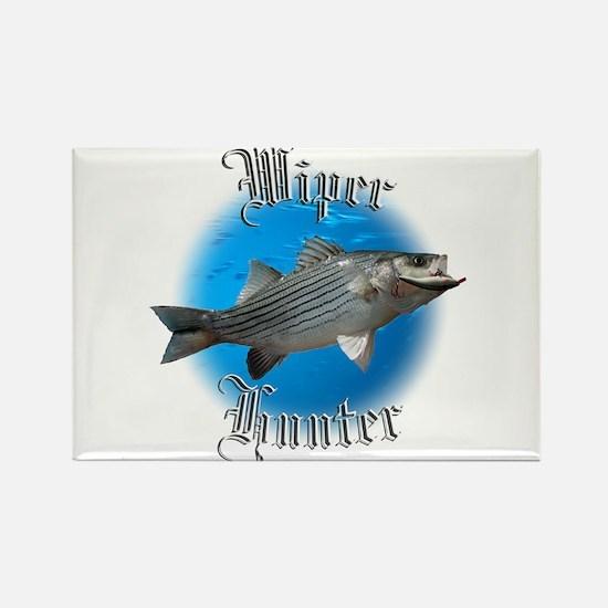 Wiper Hunter Rectangle Magnet