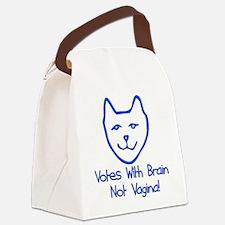 vagina_vote01.png Canvas Lunch Bag