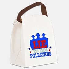 lie_pollsters01.png Canvas Lunch Bag