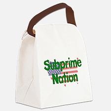 subprime_nation01.png Canvas Lunch Bag