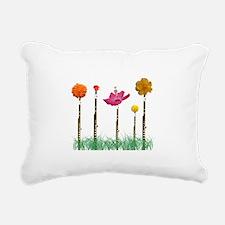 Flute Flowers Rectangular Canvas Pillow
