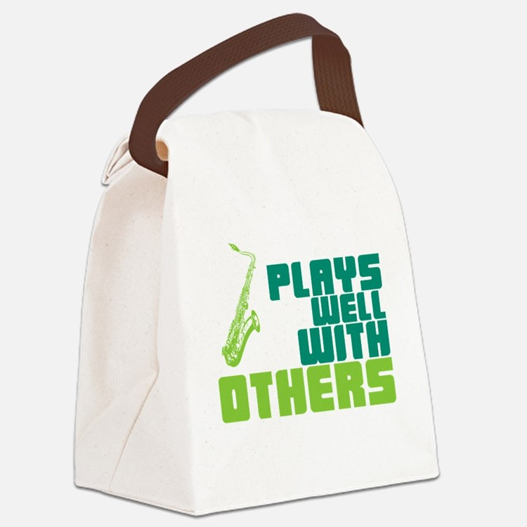 Cute Play with others Canvas Lunch Bag