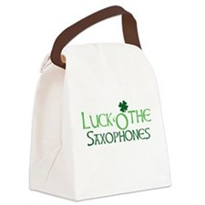 Luck 'O the Saxophones Canvas Lunch Bag