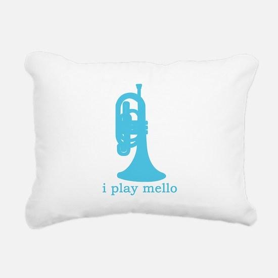 I Play Mello Rectangular Canvas Pillow