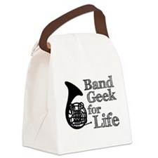 French Horn Band Geek Canvas Lunch Bag