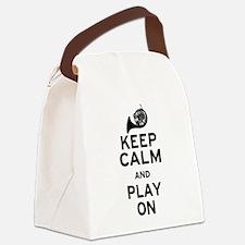 Keep Calm Horn Canvas Lunch Bag