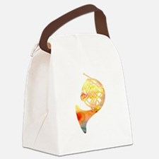 Watercolor Horn Canvas Lunch Bag