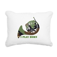 camo_horn_black.png Rectangular Canvas Pillow