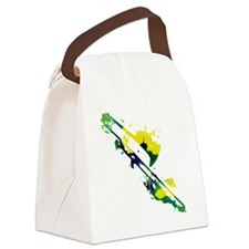 Paint Splat Trombone Canvas Lunch Bag