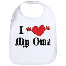 I Love My Oma Bib