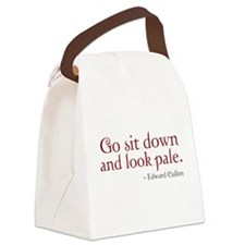 Look Pale Canvas Lunch Bag