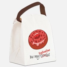 Be My Donut Valentine Canvas Lunch Bag