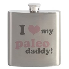 I Love My Paleo Daddy Flask