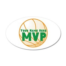 Personalized Basketball MVP. Wall Decal