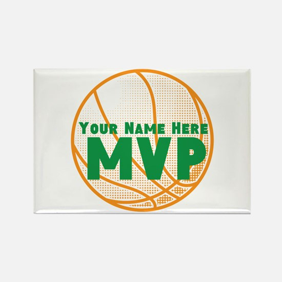 Personalized Basketball MVP. Rectangle Magnet