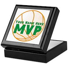 Personalized Basketball MVP. Keepsake Box