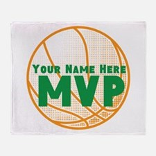 Personalized Basketball MVP. Throw Blanket
