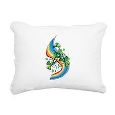 Rainbow and Shamrocks Rectangular Canvas Pillow