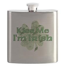 Kiss Me, I'm Irish Flask