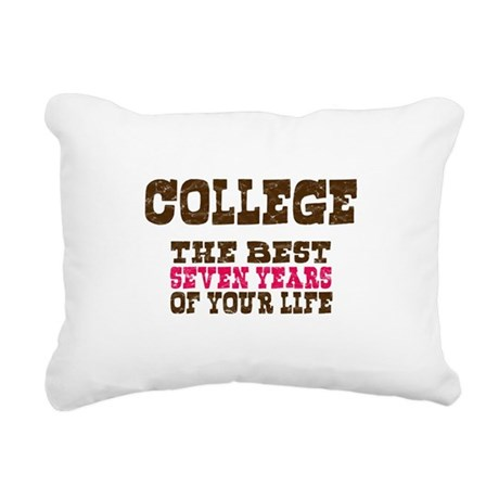 College Rectangular Canvas Pillow