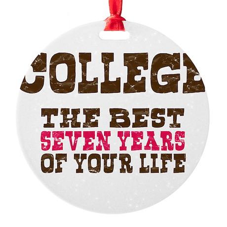 College Round Ornament