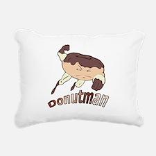 Donut Man Rectangular Canvas Pillow