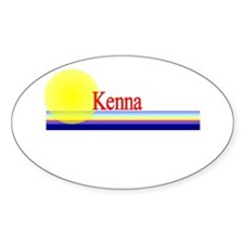 Kenna Oval Decal