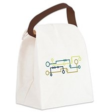 Circuit Board Canvas Lunch Bag