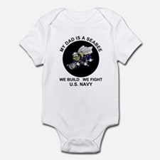 My Dad is a Seabee - US Navy Infant Creeper